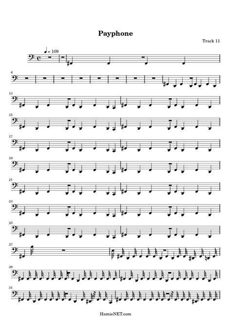 Payphone piano sheet music free download, All-hood cf